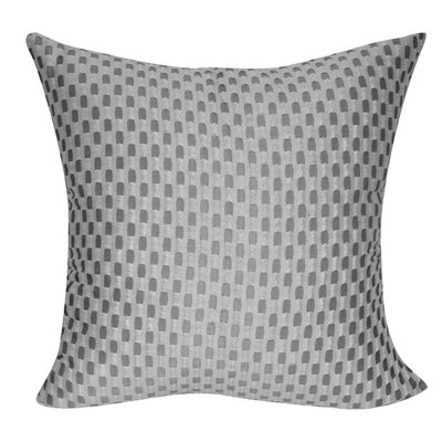 Checkered Decorative Throw Pillow Color: Gray