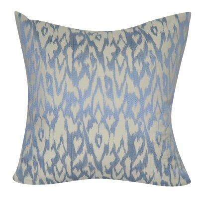 Ikat Decorative Throw Pillow Color: Blue