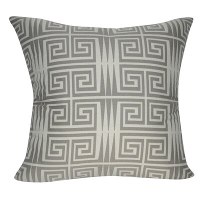 Houndstooth Decorative Throw Pillow Color: Gray