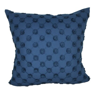Polka Dot Decorative Throw Pillow Color: Dark Blue