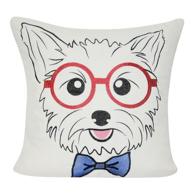 Yorkie Decorative Throw Pillow Color: Cream