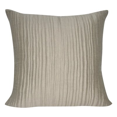 Ruffled Throw Decorative Throw Pillow Color: Taupe