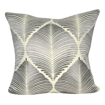 Leaf Throw Pillow Color: Cream/Gray