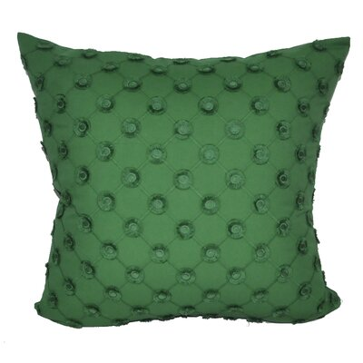 Polka Dot Decorative Throw Pillow Color: Green