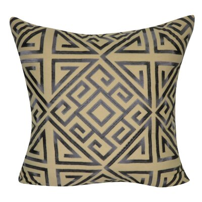 Geometric Decorative Throw Pillow Color: Charcoal