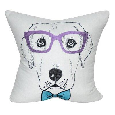 Labrador Decorative Throw Pillow Color: White/Purple