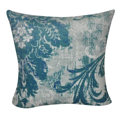 Damask Decorative Throw Pillow Color: Blue