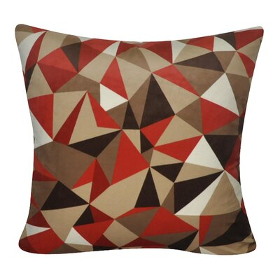 Geometric Decorative Throw Pillow Color: Red