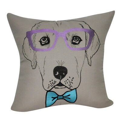Labrador Decorative Throw Pillow Color: Dark Tan/Purple