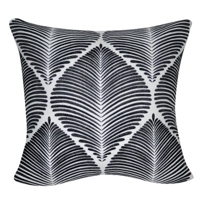 Leaf Throw Pillow Color: White/Black