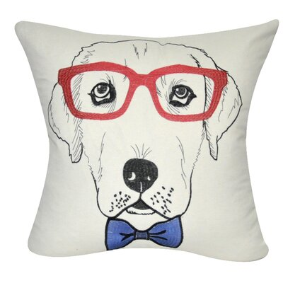 Labrador Decorative Throw Pillow Color: Cream/Red