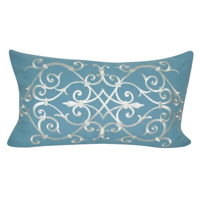 Iron Work Decorative Lumber Pillow Color: Blue