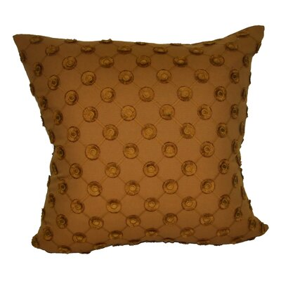 Polka Dot Decorative 100% Cotton Throw Pillow Color: Brown