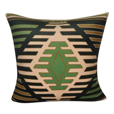 Aztec Decorative Throw Pillow Color: Black/Green