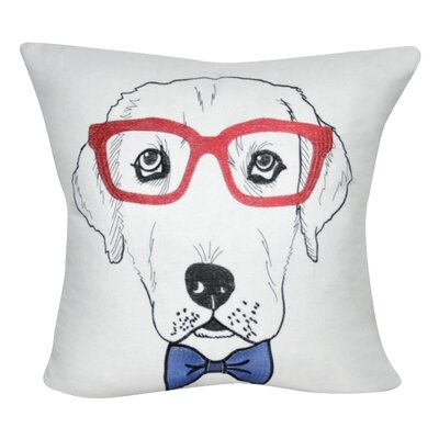 Labrador Decorative Throw Pillow Color: White/Red