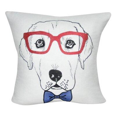 Labrador Decorative Throw Pillow Color: White/Red
