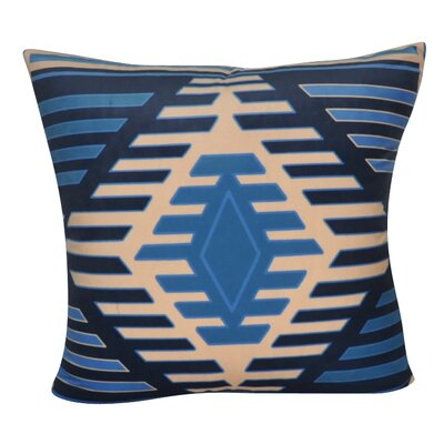 Aztec Decorative Throw Pillow Color: Dark Blue