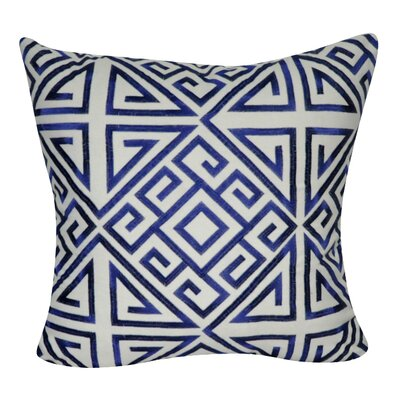 Geometric Decorative Throw Pillow Color: Blue