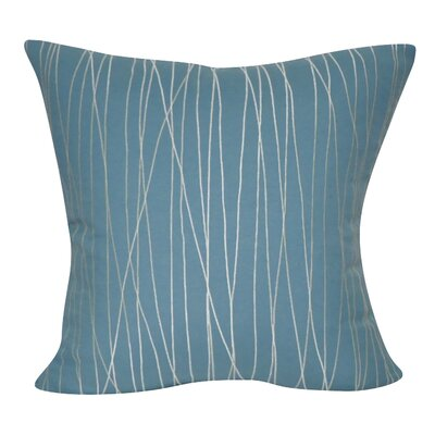 Stripe Decorative Throw Pillow Color: Blue