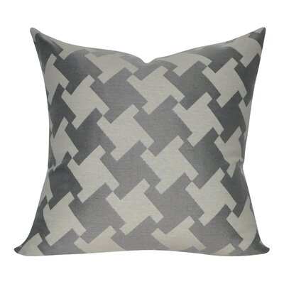 Houndstooth Decorative Throw Pillow Color: Charcoal