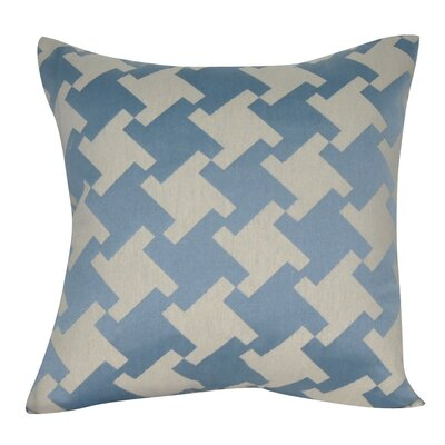 Houndstooth Decorative Throw Pillow Color: Blue