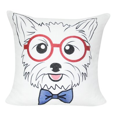 Yorkie Decorative Throw Pillow Color: White