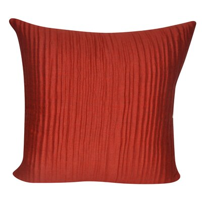 Ruffled Throw Decorative Throw Pillow Color: Orange