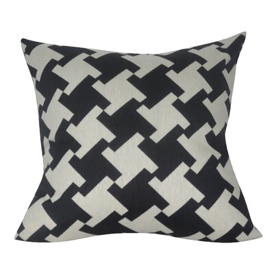 Houndstooth Decorative Throw Pillow Color: Black