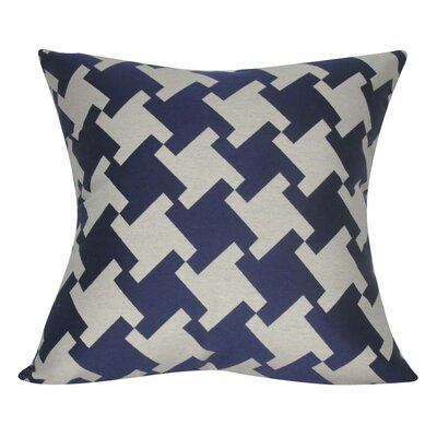 Houndstooth Decorative Throw Pillow Color: Dark Blue