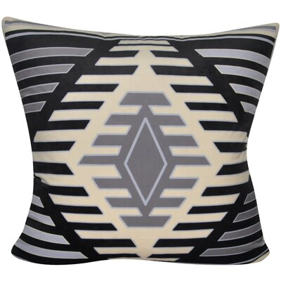 Aztec Decorative Throw Pillow Color: Black/Gray