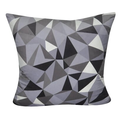 Geometric Decorative Throw Pillow Color: Gray