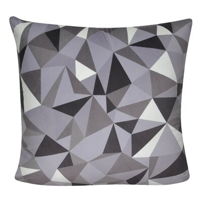 Geometric Decorative Throw Pillow Color: Light Gray