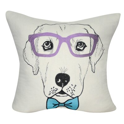 Labrador Decorative Throw Pillow Color: Cream/Purple