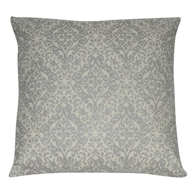 Damask Decorative Throw Pillow Color: Gray