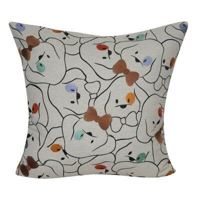 Dog with Bowtie Decorative Throw Pillow
