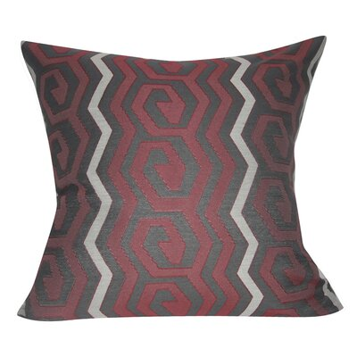 Geometric Decorative Throw Pillow Color: Chacoal