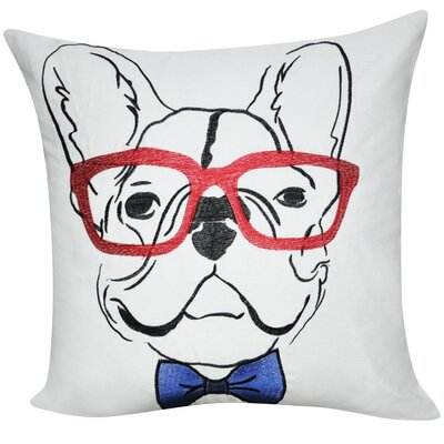 Dog Decorative Throw Pillow Color: White