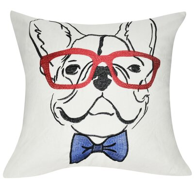 Dog Decorative Throw Pillow Color: Cream