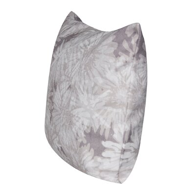 Crysanthemums Throw Pillow Color: Taupe