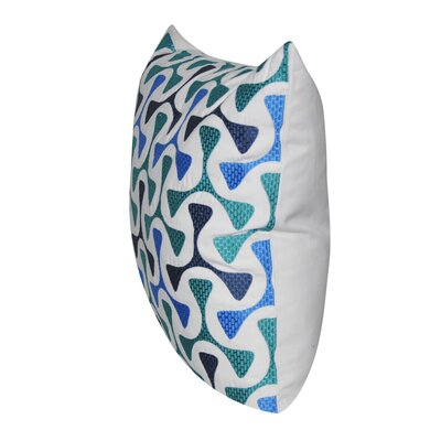 Bomerang Throw Pillow Color: Blue