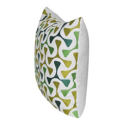 Bomerang 100% Cotton Throw Pillow Color: Green