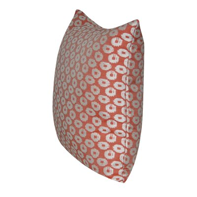 Circles Indoor/Outdoor Throw Pillow Color: Coral