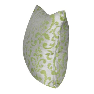 Damask Indoor/Outdoor Throw Pillow Color: Light Green