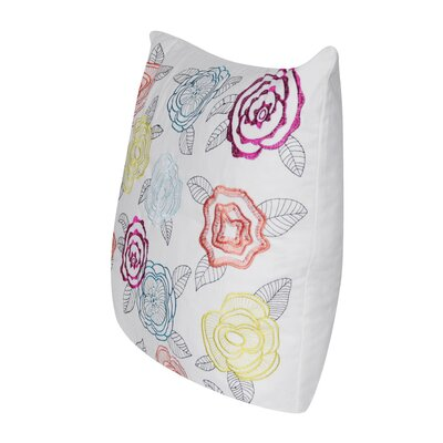 Pop Rose Throw Pillow