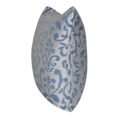 Damask Indoor/Outdoor Throw Pillow Color: Blue