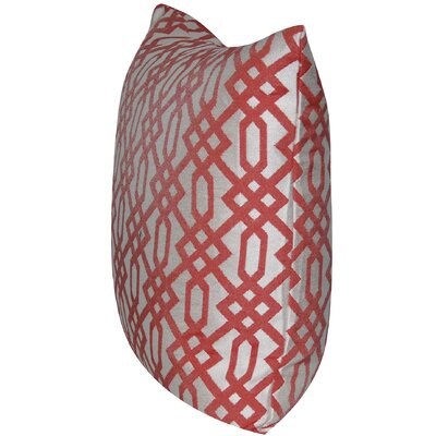 Lattice Indoor/Outdoor Throw Pillow Color: Coral