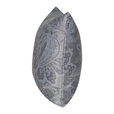 Paisley Throw Pillow Color: Gray