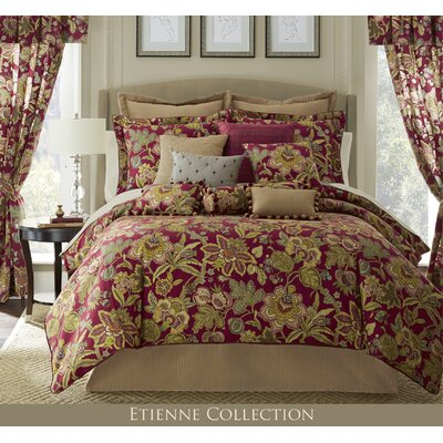 Etienne 12 Piece Comforter Set Size: King