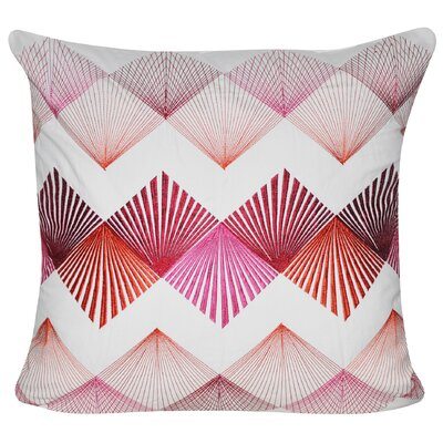 String Theory 100% Cotton Throw Pillow Color: Pink