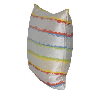 Hazy Stripes Indoor/Outdoor Throw Pillow Color: Multi